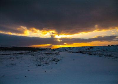 Zachód zimą - fot. Piotr Kopaniszyn